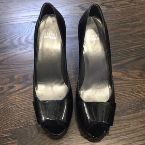 Shoes - Stuart Weitzman patent leather bow heels